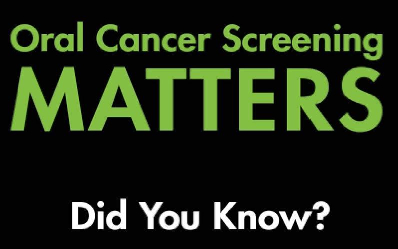 oral cancer screening matters logo